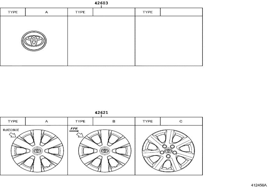 Diagram DISC WHEEL & WHEEL CAP for your 2008 Toyota Camry