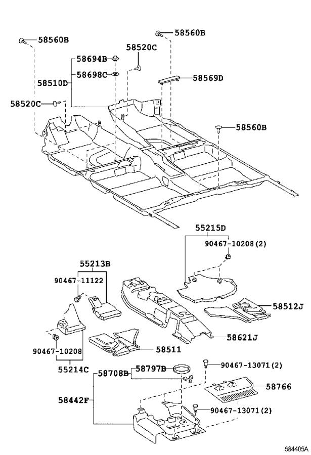 Diagram MAT & CARPET for your 2008 Toyota Camry