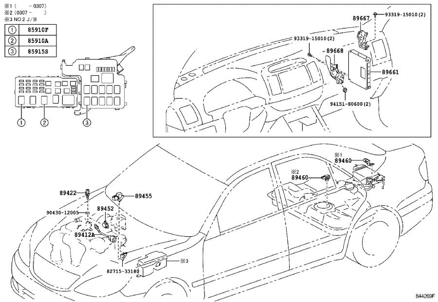 Diagram ELECTRONIC FUEL INJECTION SYSTEM for your 2004 Toyota Camry