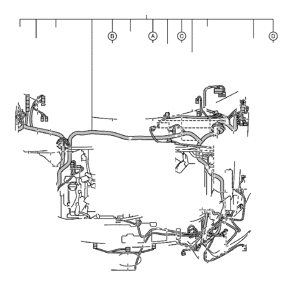 Toyota Avalon Connector  Wiring Harness  Engine  Seat